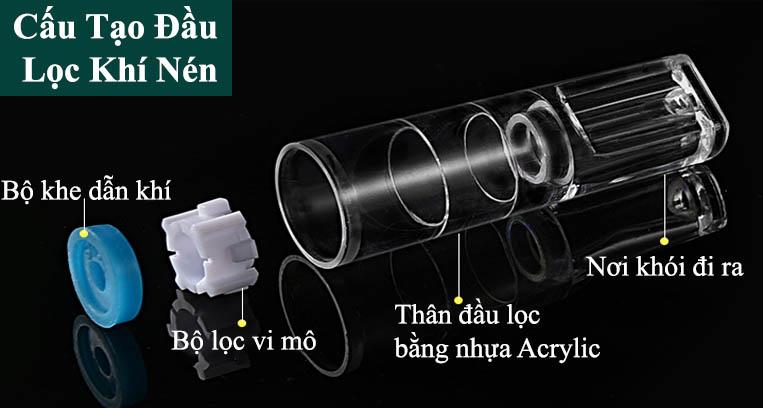 Cấu tạo tẩu lọc khí nén Ds - 200