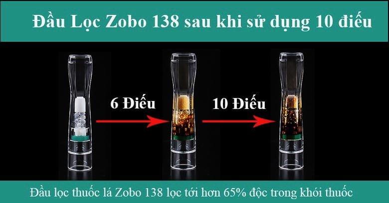 Đầu lọc thuốc lá 3in1 Zobo ZB-138 sau khi sử dụng 10 điếu