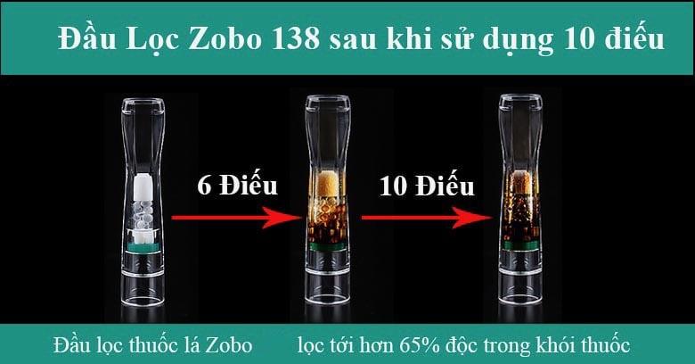 Đầu lọc thuốc lá 3in1 Zobo ZB-138 sau khi sử dụng 10