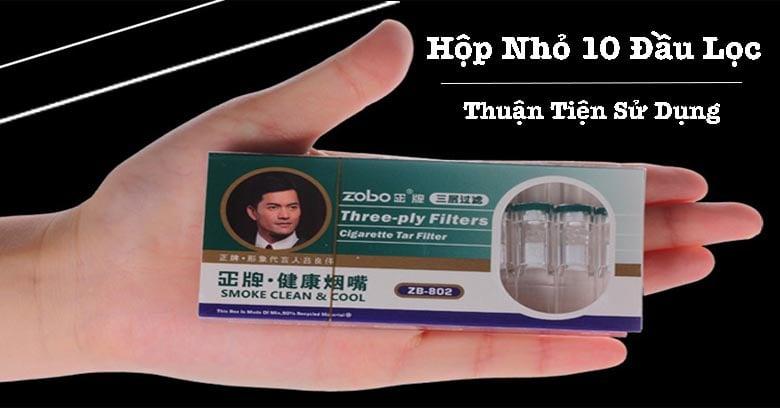 Trên tay Đầu Lọc thuốc Lá Zb-802