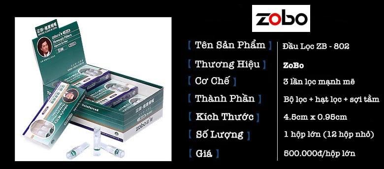 Tổng quan Đầu Lọc Zb-802