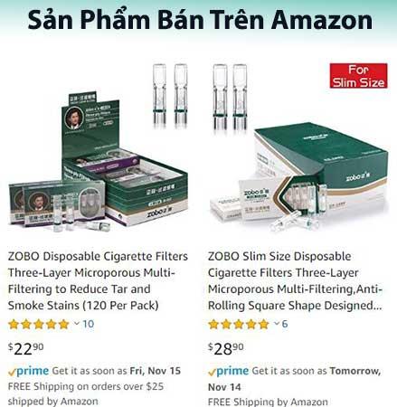 đầu lọc thuốc lá zobo 802 được bán nhiều trên amazon