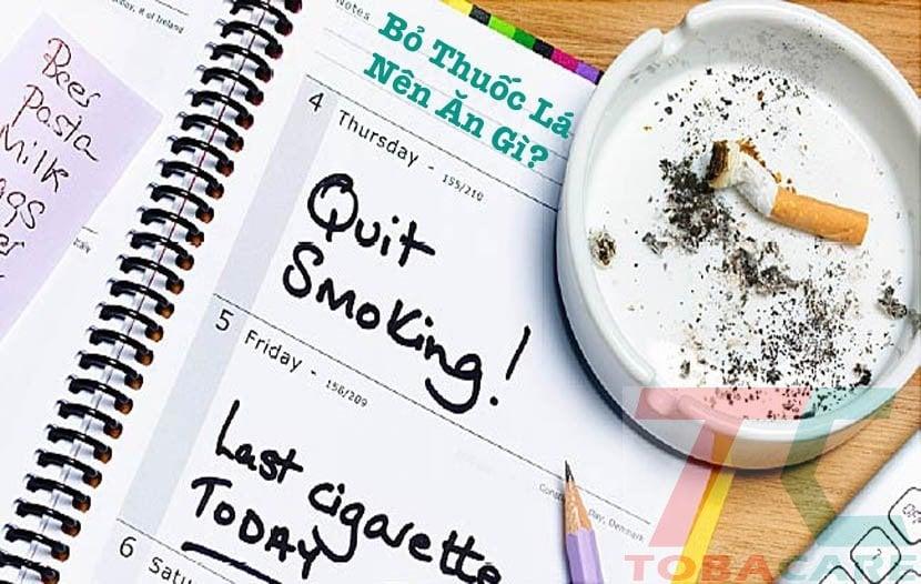 Ăn gì bỏ thuốc lá thành công