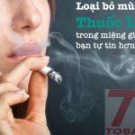 khử mùi thuốc lá trong miệng