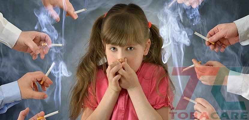 Trẻ em hút thuốc thụ động