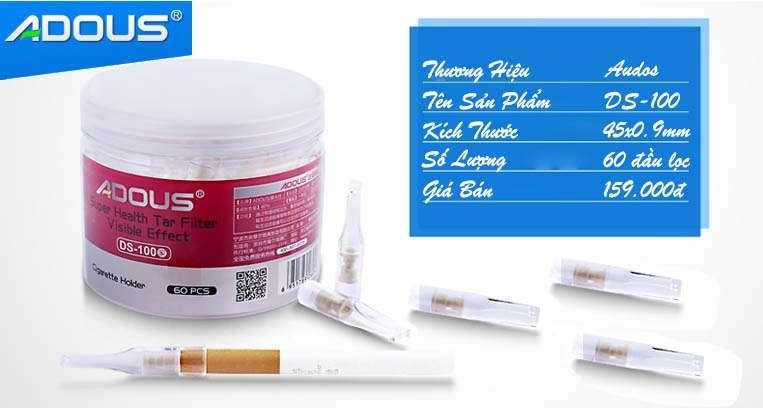 Tổng quan về đầu lọc thuốc lá ds100 hộp tròn