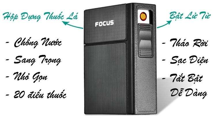 Cấu tạo hộp đựng thuốc lá bật lửa từ Focus