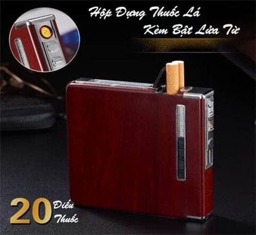 Hộp đựng thuốc lá bật lửa từ Lighter