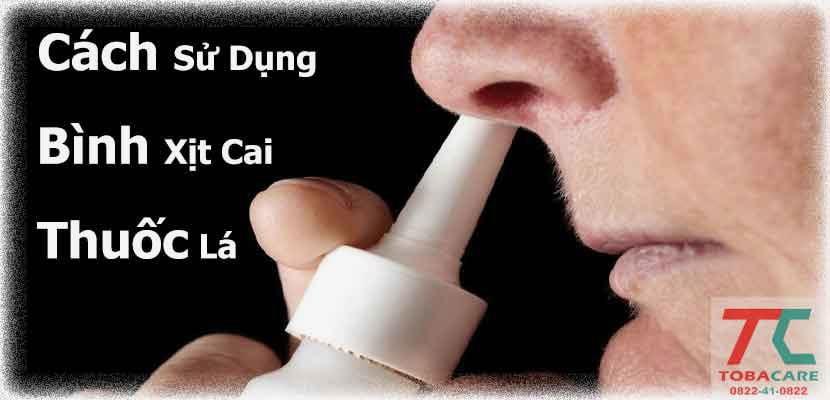 Cách sử dụng bình xịt cai thuốc lá