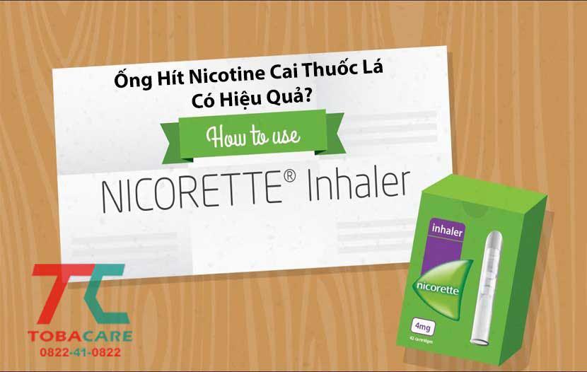 Thông tin về ống hít nicotine cai thuốc lá có hiệu quả không?