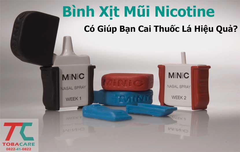 Bình xịt mũi nicotine có giúp bạn cai thuốc lá
