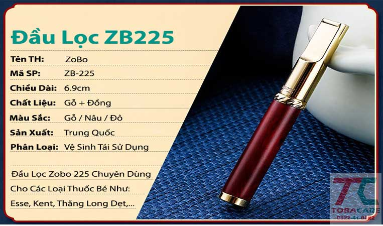 đầu lọc Zobo 225