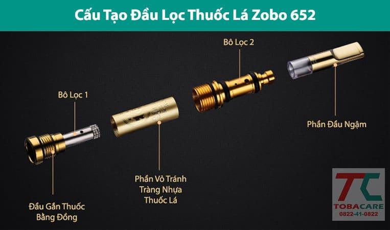 cấu tạo đầu lọc zobo 652