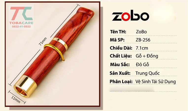 Tổng quan đầu lọc thuốc lá gỗ hương Zobo 256