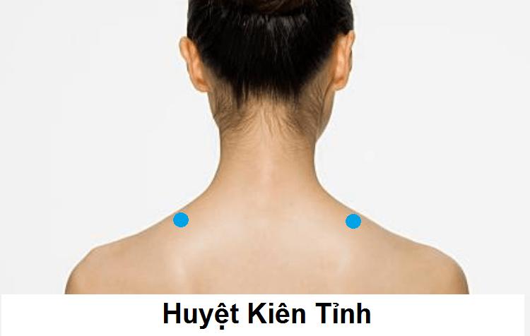bấm huyệt chữa đau đầu: huyệt Kiên Tỉnh