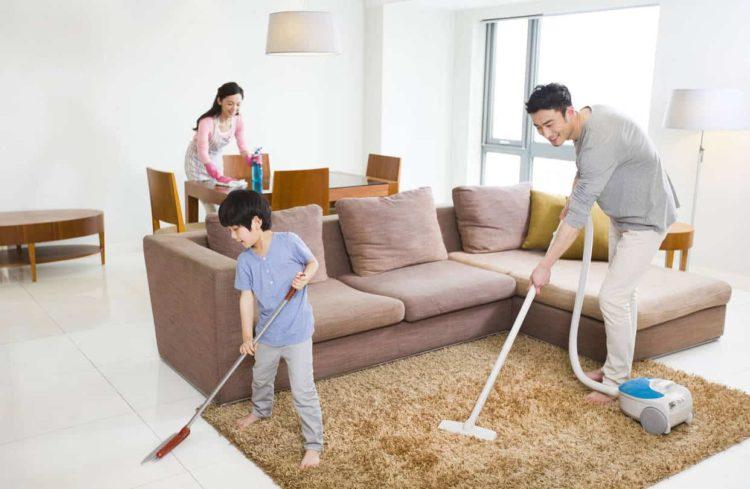 lau dọn nhà cửa là cách cải thiện chức năng của phổi