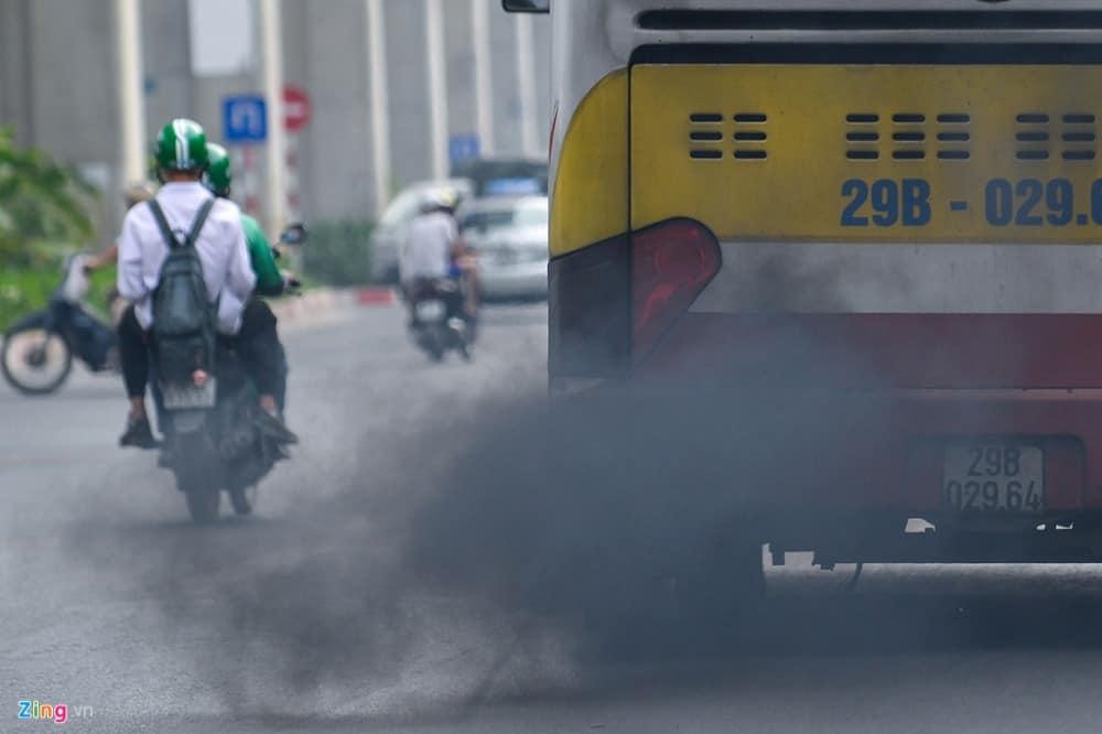 Khói từ xe cộ có thể gây ngộ độc khí CO