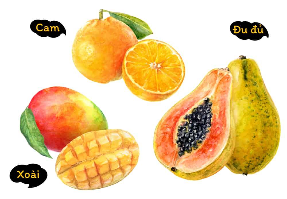 người bệnh tim nên ăn trái cây gì cam đu đủ xoài